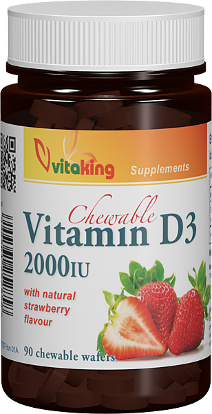 VITAMINA D 2000UI MASTICABILA, 90 comprimate, Vitaking