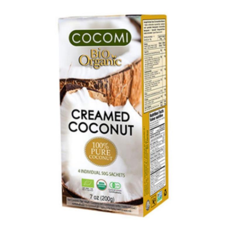 CREMA DE COCOS BIO 200 g (4 pungi x 50 g), Cocomi