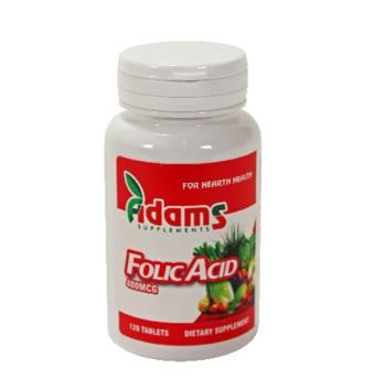 ACID FOLIC 400 mg, 120 tablete, Adams Vision