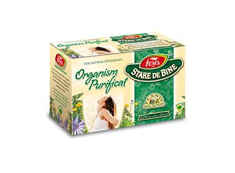 ORGANISM PURIFICAT (Detoxifiant), Ceai 20 plicuri, Fares