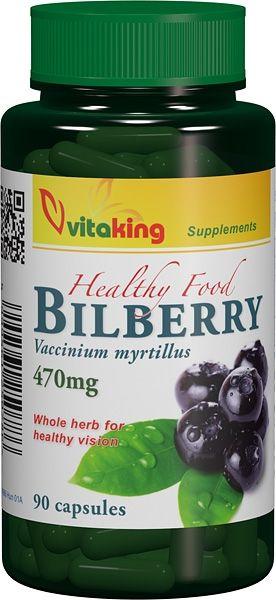 AFIN NEGRU (BILBERRY) 470 mg, 90 capsule, Vitaking
