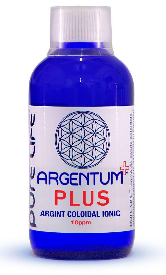 ARGINT COLOIDAL - ARGENTUM+ 10 PPM PLUS 100/240/480 ml, Pure Life