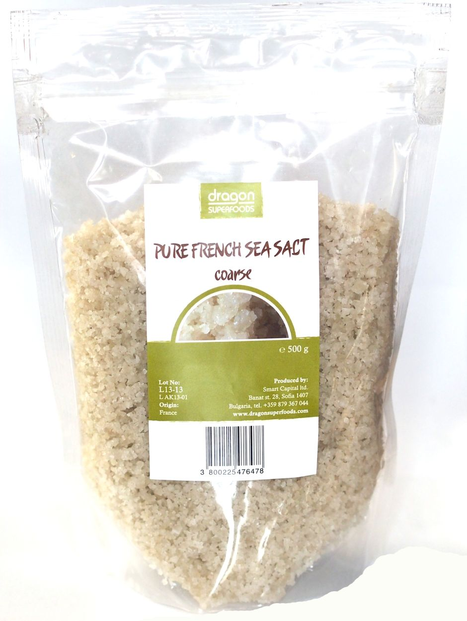SARE PURA DE MARE - CELTICA GRUNJOASA 500 g, Dragon Superfoods