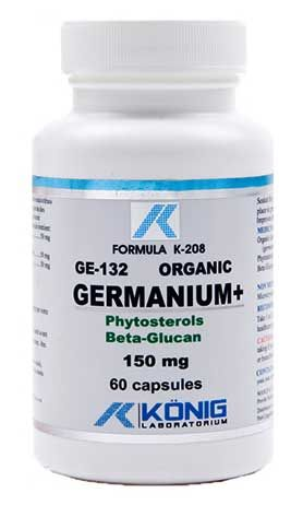 GERMANIU ORGANIC GE-132 - 150 mg, 60 capsule, Konig Laboratorium