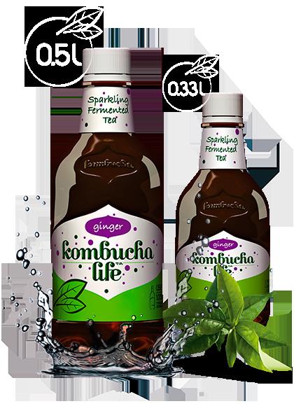 KOMBUCHA LIFE CU GHIMBIR 500 ml