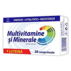 MULTIVITAMINE SI MINERALE + LUTEINA 56 comprimate filmate, 28 g, Zdrovit