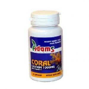 CORAL CALCIU DE OKINAWA 1 g, 30 capsule, Adams Vision