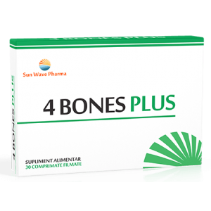 4 BONES PLUS 30 comprimate, Sun Wave Pharma