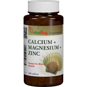 CALCIU, MAGNEZIU SI ZINC, 100 comprimate, Vitaking