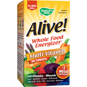 ALIVE! (fara fier) 30 tablete, Nature's Way