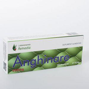 ANGHINARE 250 mg, 20 comprimate, Laboratoarele Remedia