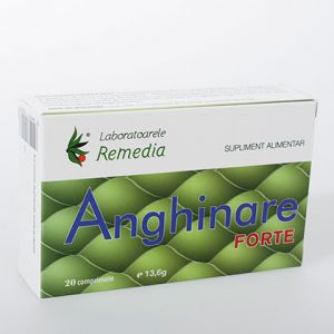 ANGHINARE FORTE 500 mg, 20 comprimate, Laboratoarele Remedia