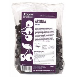 ARONIA FRUCTE USCATE BIO 150 g, Dragon Superfoods
