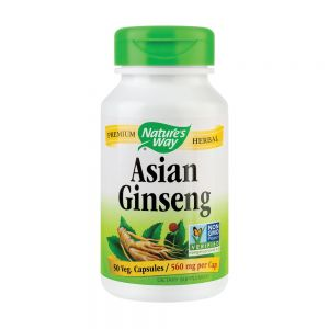 ASIAN GINSENG 560 mg, 50 capsule vegetale, Nature's Way