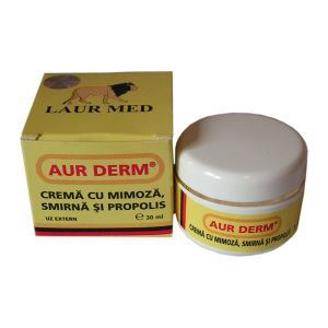 CREMA CU MIMOZA, SMIRNA SI PROPOLIS, 30 ml, Laur Med