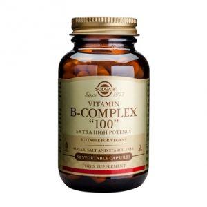 B-COMPLEX 100, 50 capsule, Solgar
