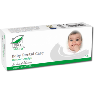 BABY DENTAL CARE NATURAL SENSIGEL 40 g, Laboratoarele Medica