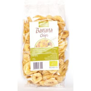 BANANE USCATE FELIATE BIO (Banana Chips) 150 g, Dragon Superfoods