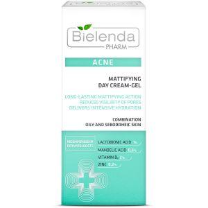 CREMA GEL DE ZI MATIFIANT PENTRU TEN ACNEIC, 50 ml, Bielenda