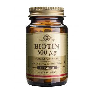 BIOTIN 300 mcg, 100 tablete, Solgar