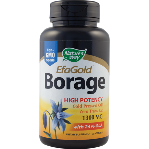 BORAGE 1300 mg EFAGOLD, 60 capsule, Nature''s Way