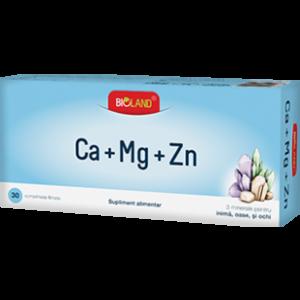 CA + MG + ZN - BIOLAND, 30 comprimate, Biofarm