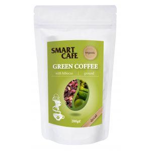 CAFEA VERDE MACINATA DECOFEINIZATA CU HIBISCUS BIO, 200 g, Dragon Superfoods