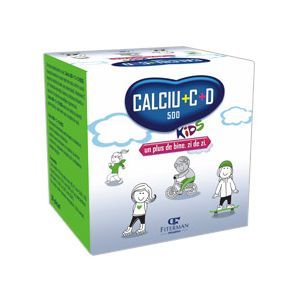 CALCIU 500 + C + D KIDS, 20 plicuri x 5 g, Fiterman Pharma