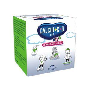 CALCIU 500 + C + D KIDS, 20 plicuri x 5 g, Fiterman Pharma