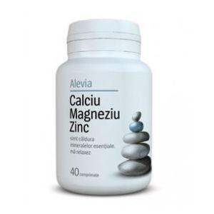 CALCIU MAGNEZIU ZINC, 40 comprimate, Alevia