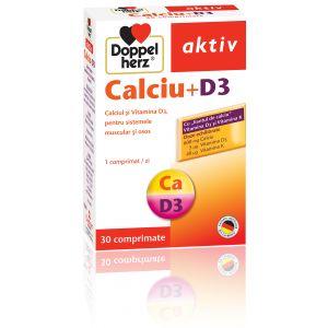 CALCIU + D3, 30 comprimate, Doppelherz Aktiv