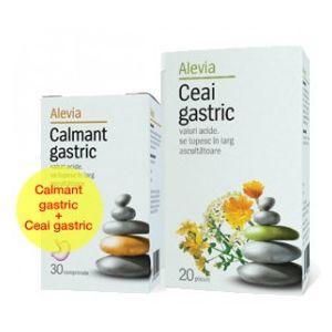 CALMANT GASTRIC 30 comprimate + CEAI GASTRIC 20 plicuri, Alevia