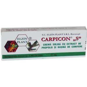 CREMA SOLIDA (SUPOZITOARE) CU PROPOLIS SI RASINA DE CONIFERE - CARPICON S, 10 buc x 1.5 g, Laur Med