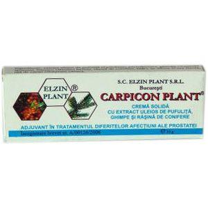CREMA SOLIDA (SUPOZITOARE) CU GHIMPE SI PUFULITA - CARPICON PLANT, 10 buc x 1.5 g, Elzin Plant