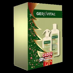 CASETA CADOU GEROVITAL TRATAMENT EXPERT - REGENERARE: Șampon regenerant 250 ml + Ser termoprotector 150 ml, Farmec