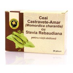 CASTRAVETE AMAR CU STEVIA REBAUDIANA, Ceai 20 plicuri, Hypericum Impex