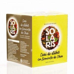 CEAI DE SLABIT CU SEMINTE DE CHIA 40 g, Solaris