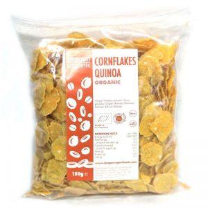 FULGI DE PORUMB CU QUINOA BIO, 150 g, Dragon Superfoods