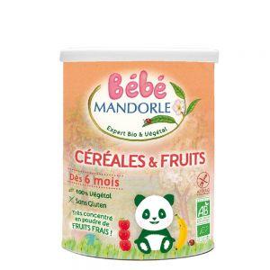 CEREALE + FRUCTE PENTRU BEBELUSI DE LA 6 LUNI, 400 g, Bebe Mandorle