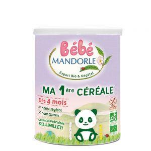 CEREALE PENTRU BEBELUSI DE LA 6 LUNI - PRIMELE MELE CEREALE, 400 g, Bebe Mandorle