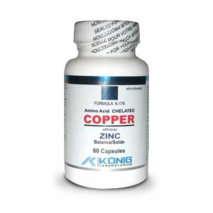 AMINO ACID CHELATED COPPER WITH ZINC 60 capsule, Konig Laboratorium