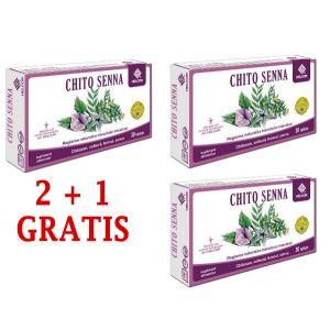 CHITO SENNA 30 comprimate, 2+1 GRATIS, Ac Helcor
