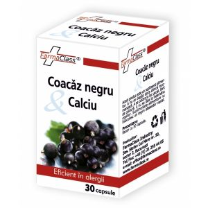 COACAZ NEGRU & CALCIU, 30 capsule, FarmaClass