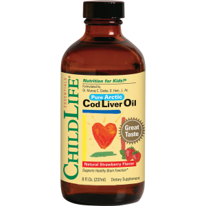 COD LIVER OIL - ULEI DIN FICAT DE COD 237 ml (gust de capsuni), Child Life Essentials