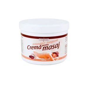 CREMA PENTRU MASAJ - EXTRACT COFEINA, 500/1000 ml, Casaherba