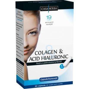 COLAGEN & ACID HIALURONIC 30 capsule, Casaherba