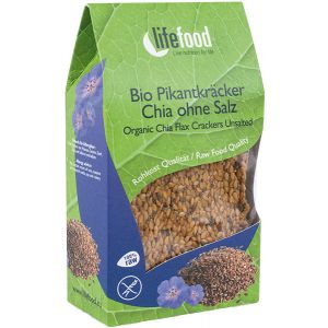 CRACKERS CU CHIA RAW BIO 90 g, Lifefood