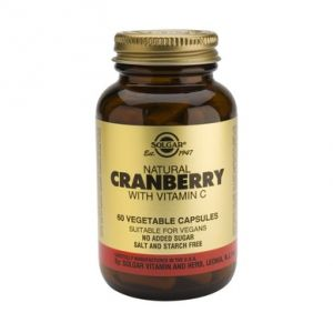 CRANBERRY EXTRACT WITH VITAMIN C, 60 capsule, Solgar