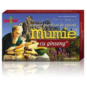 EXTRACT PURIFICAT DE RASINA MUMIE CU GINSENG 30/60 tablete, Damar