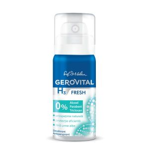 DEODORANT ANTIPERSPIRANT FRESH GEROVITAL H3 CLASSIC 40 ml, Farmec